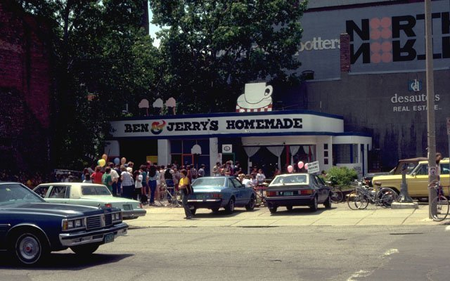 Image result for ben and jerry's first ice cream shop