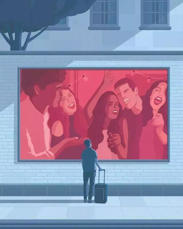 火爆ins的30張成年人插畫:成年人的世界是你想不到的心酸……