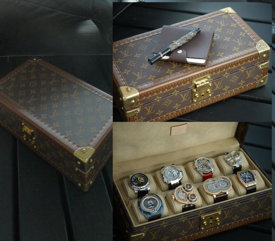 Louis Vuitton 8 Watch Case with supreme time pieces inside! Two ...