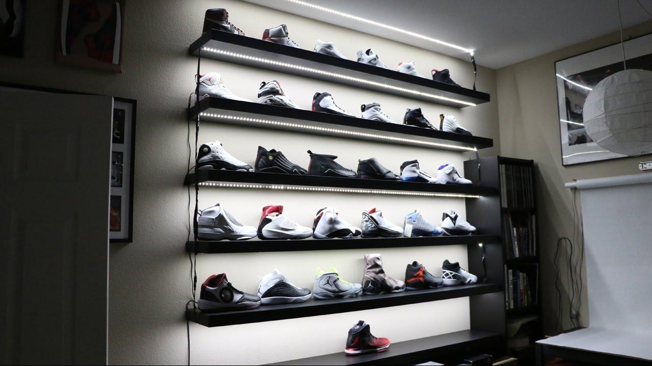 My Sneaker Display is LIT! - YouTube