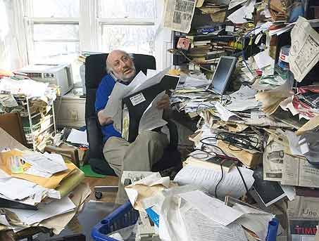 messy desks | ... of disorganization and chaos,and a very poignant one is a  messy desk | Messy desk, Desktop decor, Writing space